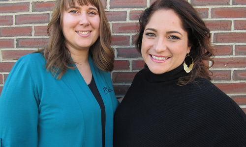Molly Woodward (left) and Samantha Burdick (right) lead KV Connect, mid-Maine's young professionals group. Click to learn more about KV Connect.